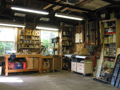 for One car garage woodshop